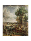 The Vale of Dedham, 1828 Giclee Print by John Constable