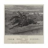 From Post to Finish, a Racing Romance Impressão giclée por John Charlton