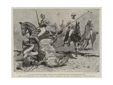 The Earthquake at Calcutta, Polo Players in an Unpleasant Predicament Giclee Print by John Charlton