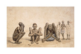 Negroes of Rio Janeiro, C. 1825-6 Giclee Print by Jean Baptiste Debret