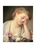 A Girl with a Dead Canary, 1765 Giclee Print by Jean Baptiste Greuze