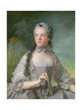 Portrait of Adelaide De France (1732-1800) with a Fan, 1749 Giclee Print by Jean-Marc Nattier