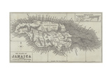 Map of the Island of Jamaica Giclee Print by John Dower