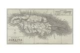 Map of the Island of Jamaica Impressão giclée por John Dower
