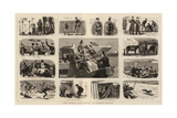 The Derby Day, Notes on Epsom Downs Giclee Print by John Charles Dollman