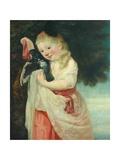 Girl with a Bird Giclee Print by John Hoppner