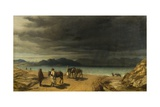 Landscape with Lake and Greek Soldiers Giclee Print by John Rogers Herbert