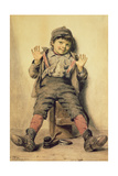 Perfectly Happy, 1885 Gicléedruk van John George Brown