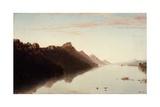 View on the Upper Mississippi, 1855 Giclee Print by John Frederick Kensett