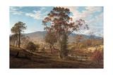 View of Mills Plains, Van Diemen's Land, 1833 Reproduction procédé giclée par John Glover