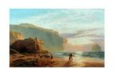 Off the Cornish Coast (Trebariwith Strand), 1877-78 Giclée-Druck von John Mogford