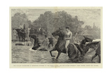 The Cavalry Manoeuvres in Berkshire Impressão giclée por John Charlton