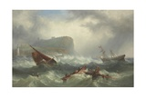Wreck Off Scarborough, 1863 Giclée-Druck von John Warkup Swift