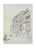 The Palazzo Contarini-Fasan Giclee Print by John Ruskin