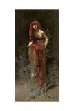 Priestess of Delphi, 1891 Gicléedruk van John Collier