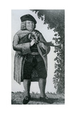 Old Geordie Sime, a Famous Piper in His Time', 1789 Giclee Print by John Kay