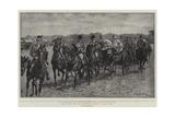 Royal Ascot, the State Procession Passing Up the Course Impressão giclée por John Charlton