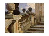 A Balustrade Giclee Print by John Singer Sargent