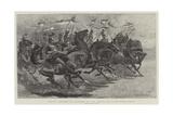 Halt!, Charge of Lancers at the Royal Military Tournament Impressão giclée por John Charlton