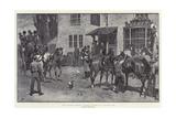 The Coaching Season, Changing Horses at a Wayside Inn Impressão giclée por John Charlton