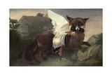 Fox and Goose, C.1835 Giclee Print by John James Audubon
