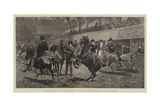 Horse-Show at the Agricultural Hall, Ponies in the Ring Impressão giclée por John Charlton