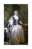 Queen Caroline, Born Caroline of Ansbach (1683-1737) Giclée-Druck von John Vanderbank