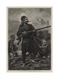 With the Turks, Bashi-Bazouks at Bay Giclee Print by John Dawson Watson