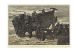 Launching the Life Boat Giclee Print by John Dawson Watson