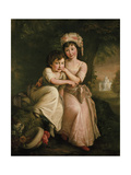 Portrait of Stephen Peter and Mary Anne Rigaud as Children Giclee Print by John Francis Rigaud