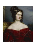 Portrait of Marchesa Marianna Florenzi, 1831 Giclee Print by Joseph Karl Stieler