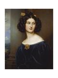 Portrait of Nanette Kaula (1812 - 1876), 1829 Giclee Print by Joseph Karl Stieler