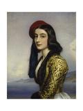 Portrait of Khatarina Botzaris, 1841 Giclee Print by Joseph Karl Stieler