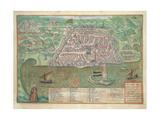 Map of Toledo Giclee Print by Joris Hoefnagel