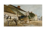 Pony and Cart Reproduction procédé giclée par Joseph Crawhall