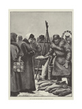 The Klondike Gold Discoveries, an Alaskan Fish Market Giclee Print by Julius Mandes Price