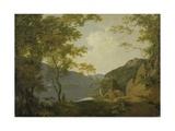 Lake Scene, 1790 Giclee Print by Joseph Wright of Derby