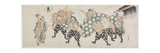 Six Male Gods Performing the Lion Dance, 1797-1819 Impressão giclée por Katsushika Hokusai