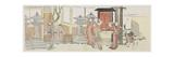 Visiting Oji Inari Shrine, 1801-1805 Giclée-Druck von Katsushika Hokusai