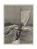A Ceylon Surf Boat Giclee Print by Joseph Nash