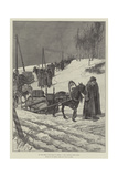 On the Great Post Road in Siberia, a Tea Caravan from China Giclee Print by Julius Mandes Price