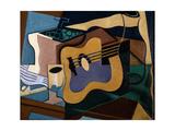 Still Life with Guitar, October-November 1920 Impressão giclée por Juan Gris