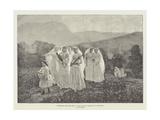 Pictures at the Paris Salon, Jeunes Filles Se Rendant a La Procession Giclee Print by Jules Breton