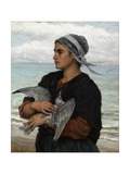 The Wounded Sea Gull, 1878 Giclee Print by Jules Breton