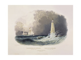 Cleveland Lighthouse on the Lake Erie Stampa giclée di Karl Bodmer