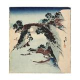 Moon Underneath the Bridge, 1811-1820 Giclee Print by Katsushika Hokusai