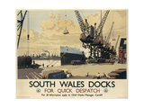 Poster Advertising South Wales Docks, 1947 Giclee Print by Joseph Werner