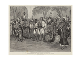 The Reception of the Prince of Wales at Cairo Gicléetryck av Lady Butler