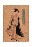 Chochi O Motsu Onna Giclee Print by Keisai Eisen