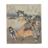 View from Shichiri-Ga-Hama, 1820-1834 Impressão giclée por Katsushika Hokusai